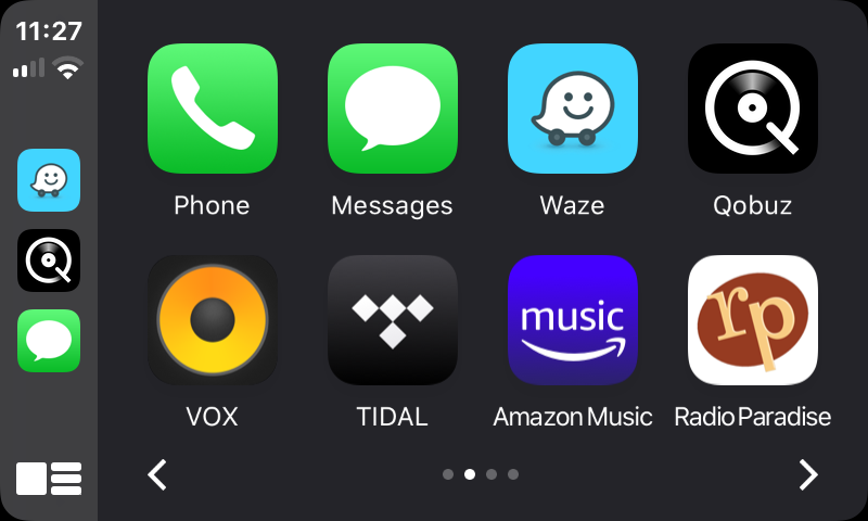 Main CarPlay screen.