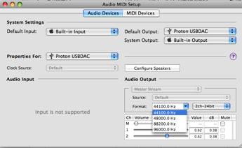 Wavelength Audio Proton Audio Midi Options