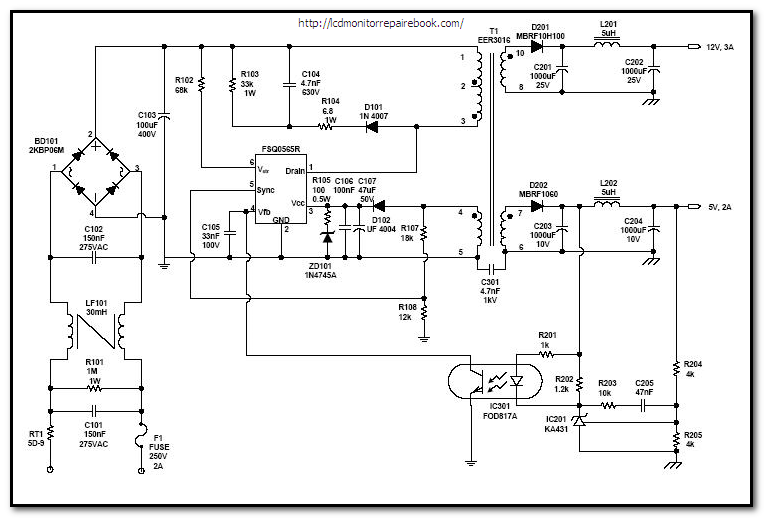 Old Fashioned Computer Smps Circuit Diagram Festooning Electrical