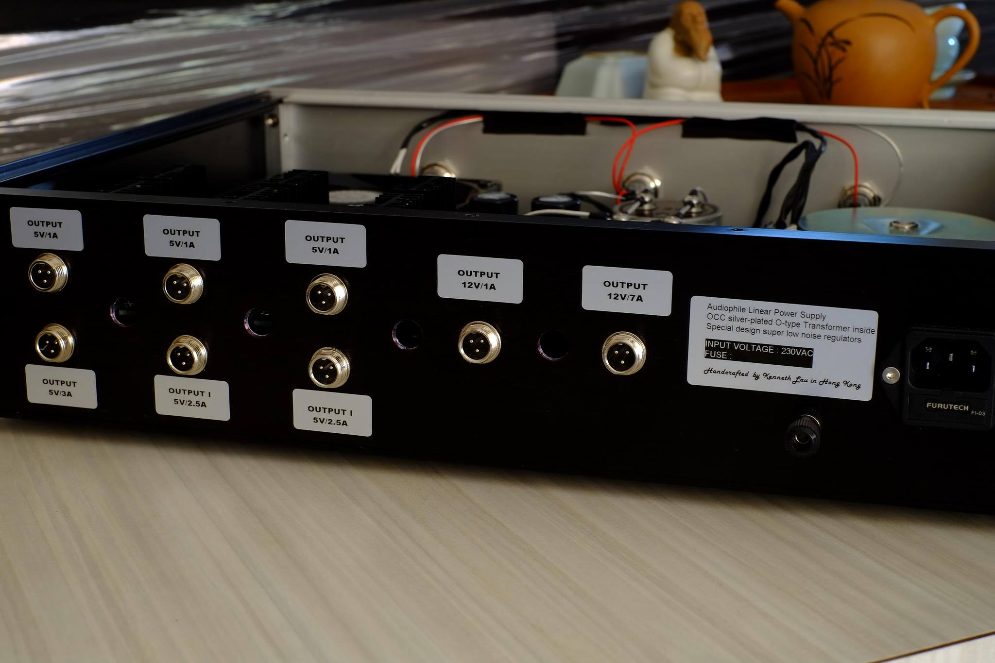 Handcrafted Audiophile Linear Power Supply by Kenneth Lau