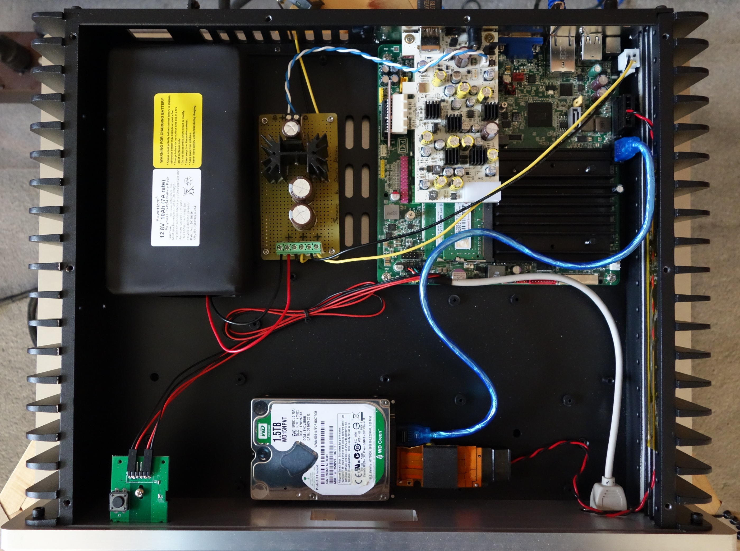 New Lifepo4 Powered Server Music Servers Computer Audiophile Dual Super Cap Charging Circuit From 12v With Balance Voltage Well Battery Power Is For Real Originally I Had This Built In A Configuration Which Would Allow An Internal Supply Hate