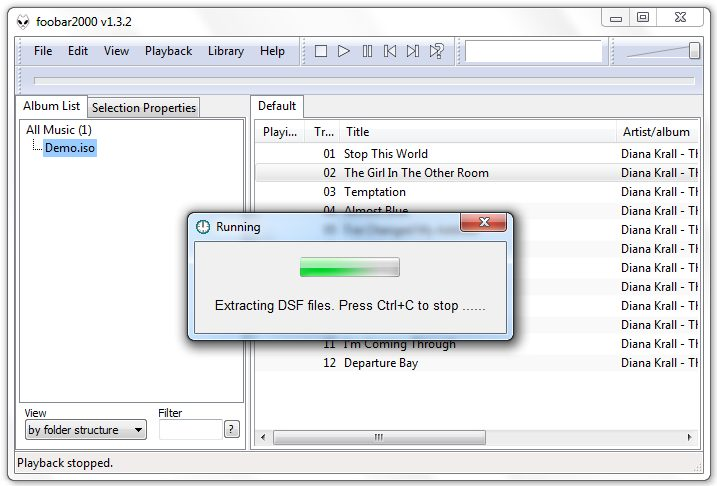 ARTT DSDMate (Plugin) for Foobar, Another sacd_extract GUI Tool