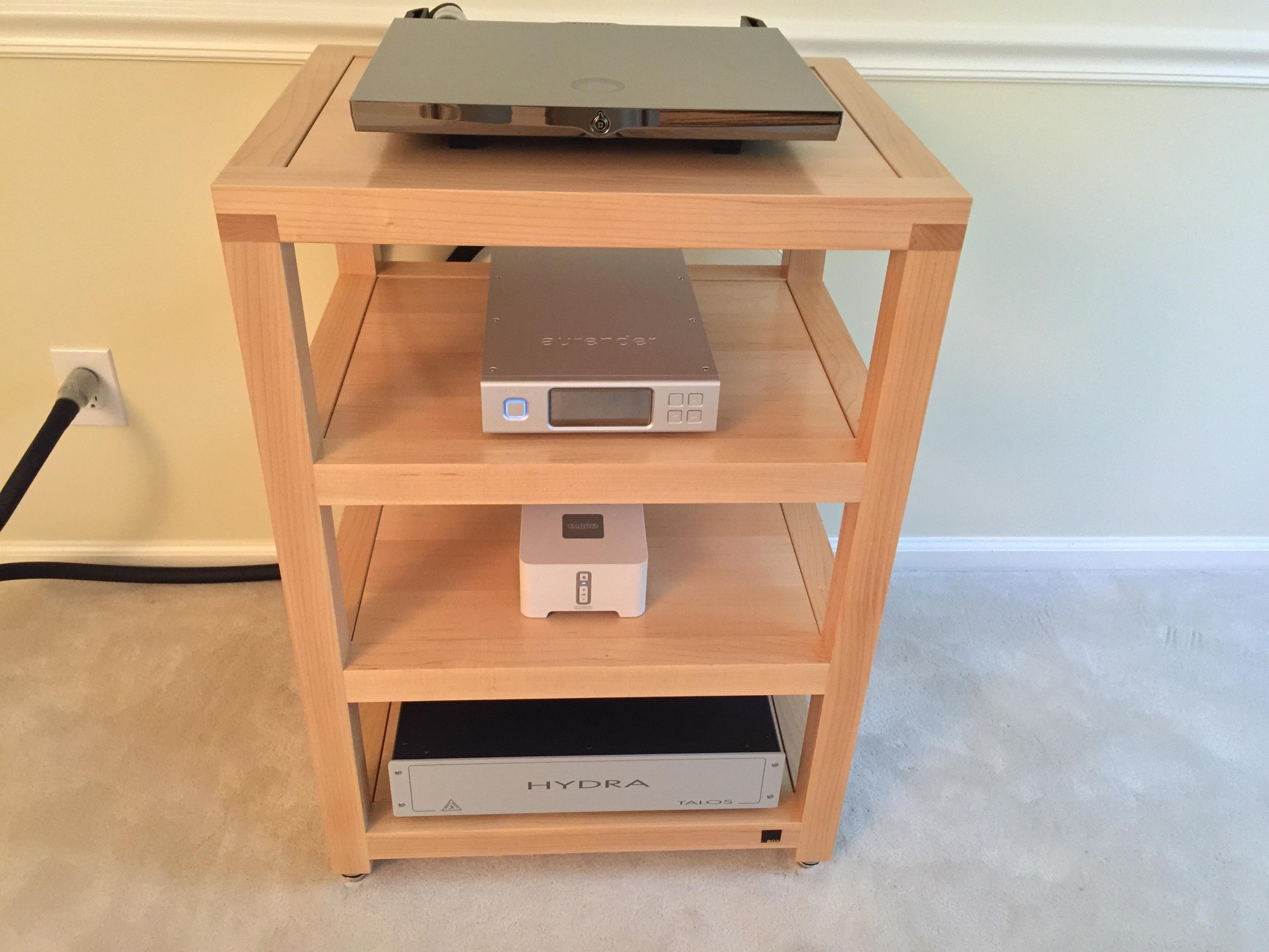Box Furniture Company Rack S4 Custom In Maple Audio