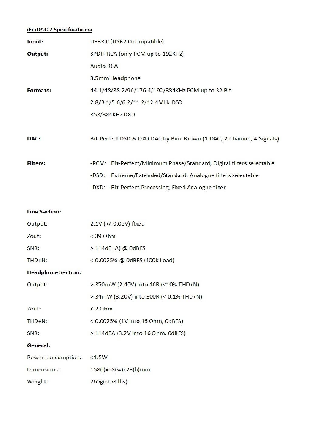 Idac 2 Quad Dsd256 Pcm 384khz Usb Dac Headphone Amp Block Diagram Of The Amplifier Ip Core Idac2 Tech Specs