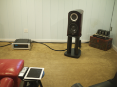 Front right channel TAD Labs CR1 loudspeaker.