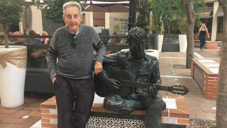 Juan Carrion with John Lennon statue.jpg