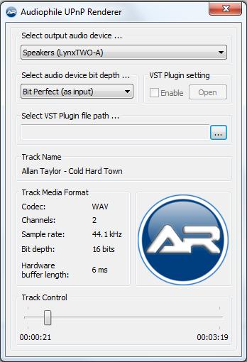 Audiophile UPnP Renderer for Windows     - Software - Audiophile Style