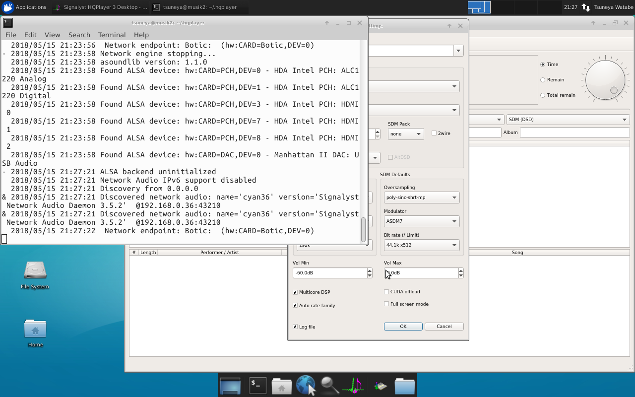 HQPlayer Linux Desktop and HQplayer embedded - Page 23 - Software