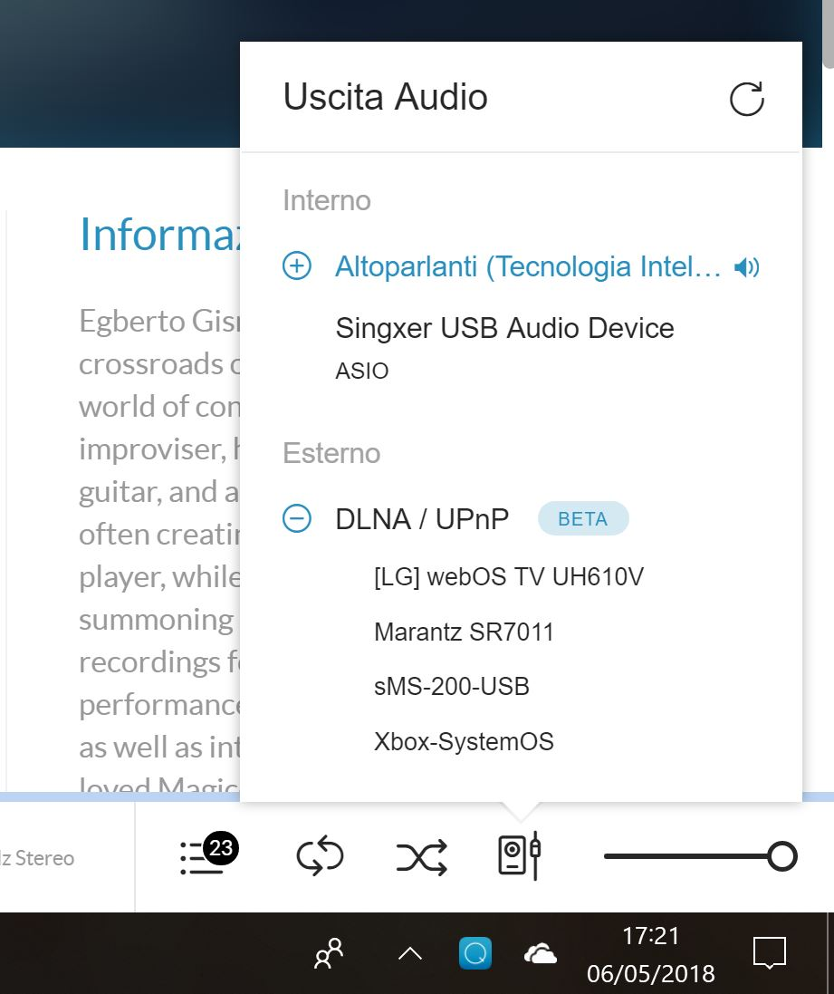 New UPnP/DLNA support in Qobuz standalone software