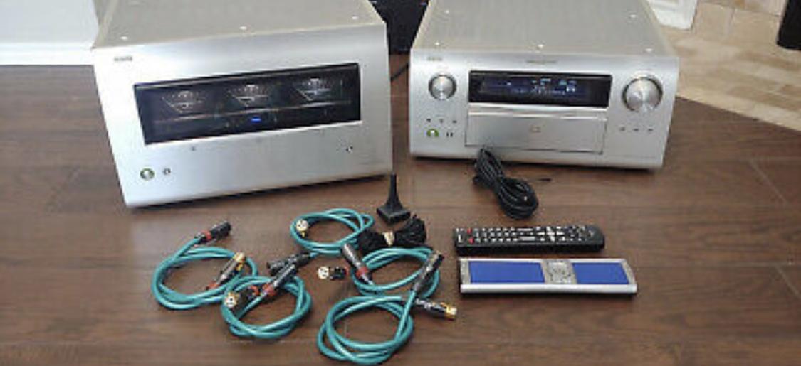 Mega Rare Denon POA-A1HD 10 channel Monoblock Amplifier & AVP-A1HD Processor