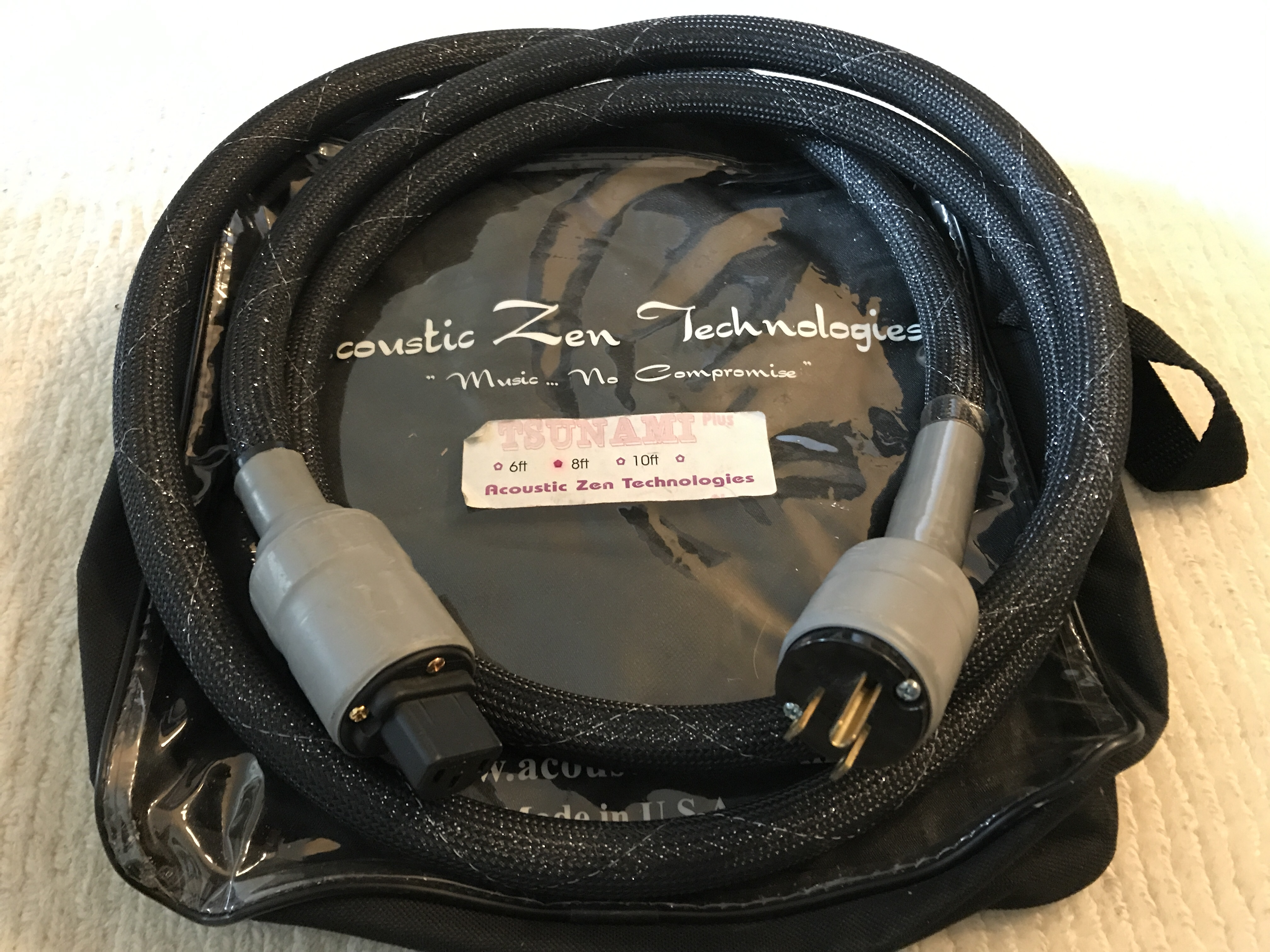 Acoustic Zen Tsunami Plus Power Cables - 5ft and 8ft