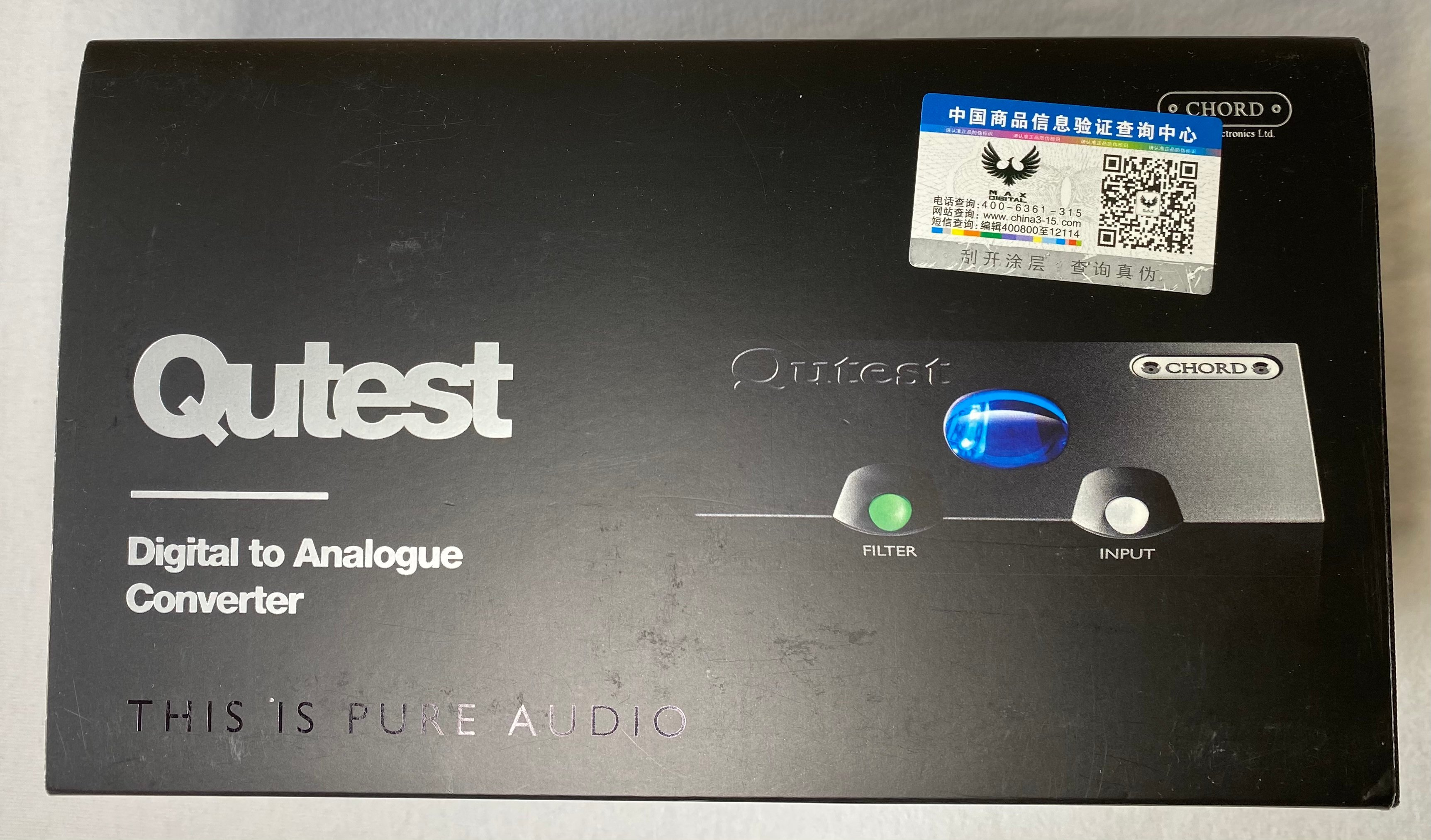 Chord Qutest Digital to Analog Convertor. BLACK. Perfect Condition