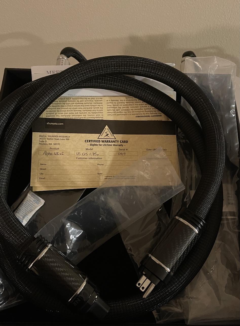 Shunyata Alpha NR v2 1.75m 15 amp