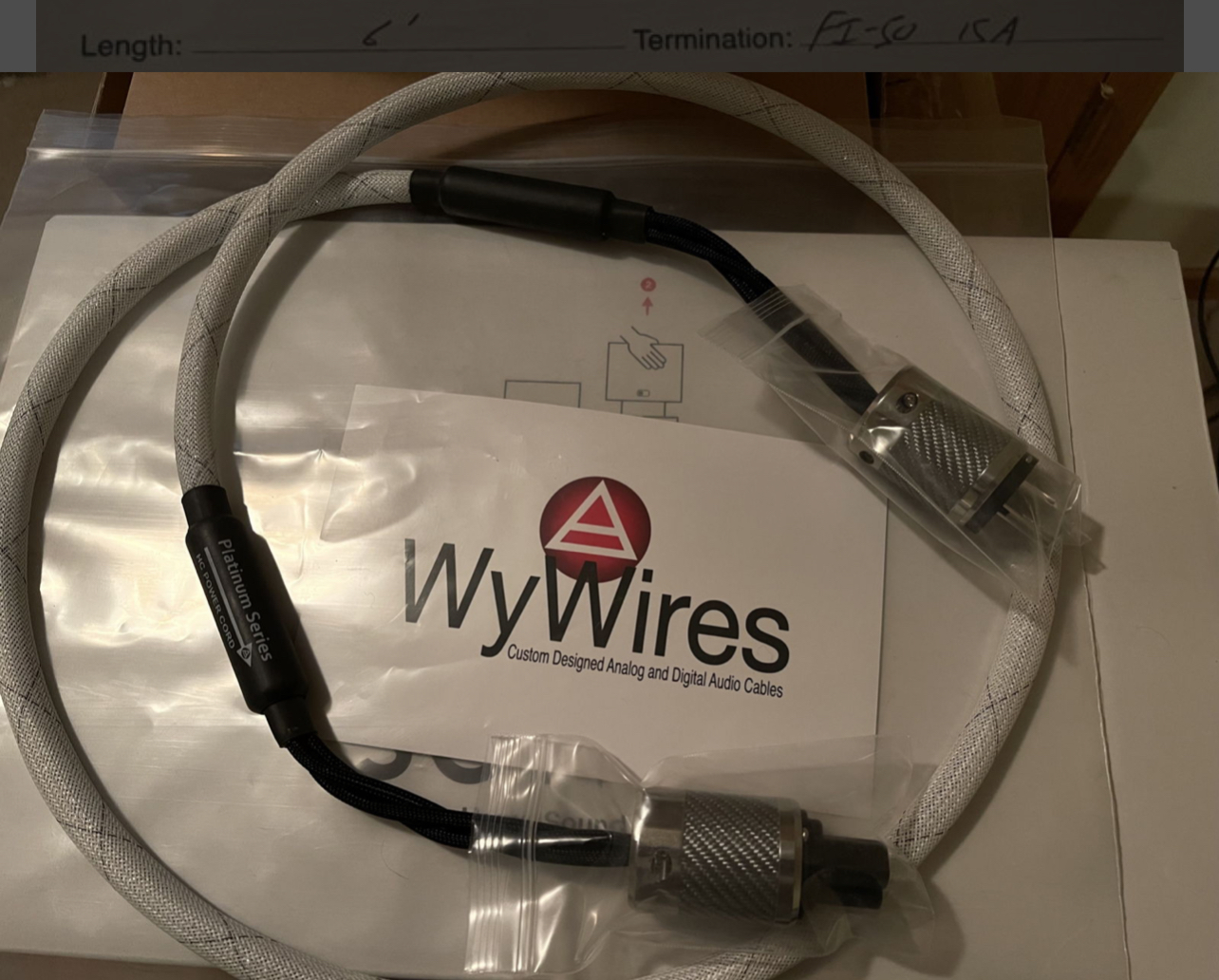 Wywire Platinum HC Power Cables