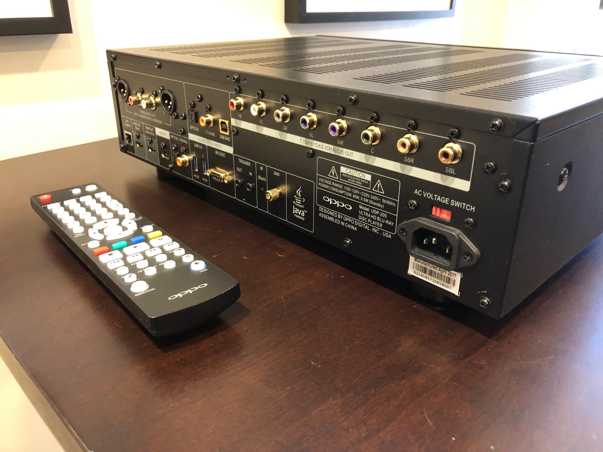 Oppo UDP-205 Blu-Ray Player/Media Streamer
