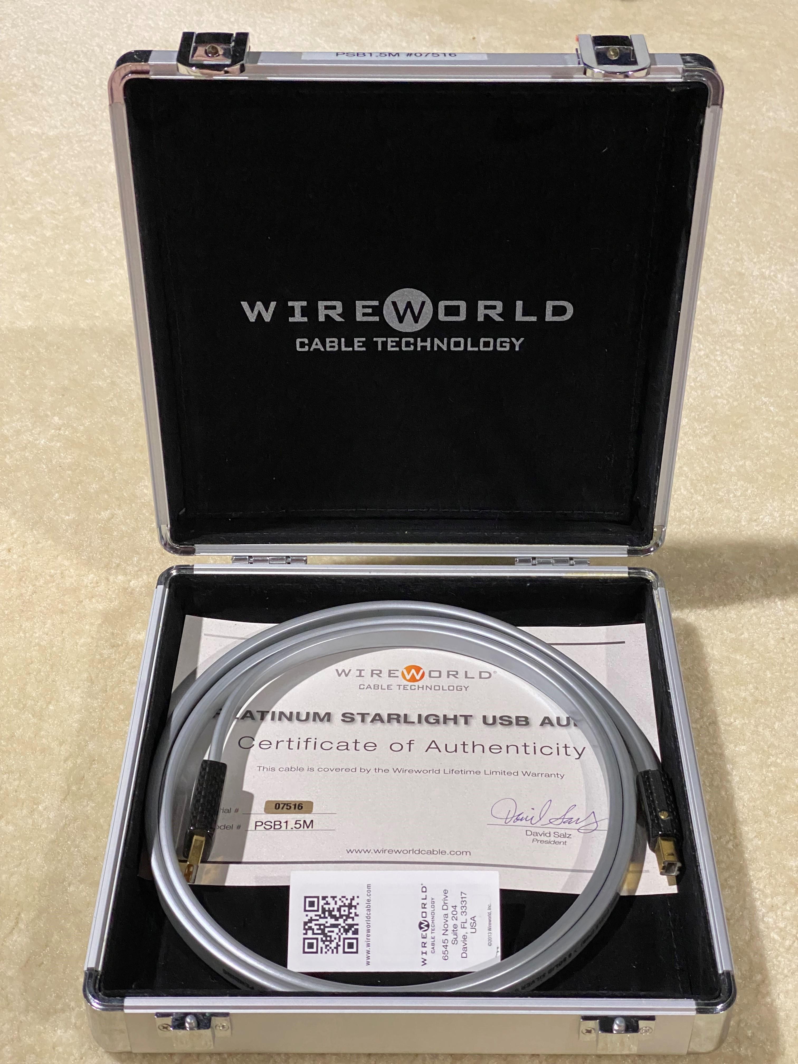 Wireworld Platinum Starlight 1.5M USB A to B